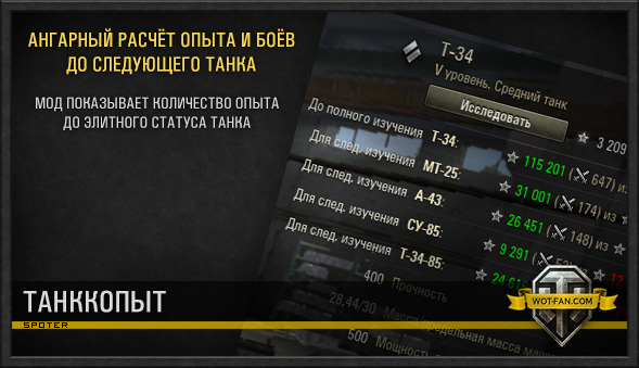 "Мод ""Танкопыт"" для World of Tanks 0.9.17.0.3"