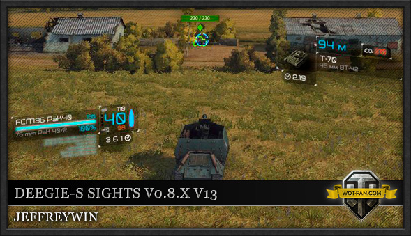 Прицел Deegie's Sights GKstd Remake для World of Tanks 0.9.13