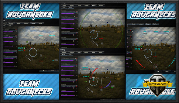 Прицелы RoughNecks Gun Sight для World of Tanks 0.9.15.0.1